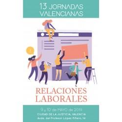 Llibro de ponencias de las 13º Jornadas Valencianas de Relaciones Laborales